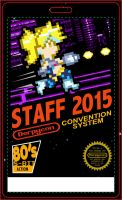 Derpycon 2015 80's 8-Bit Staff Badge Design by kevinbolk