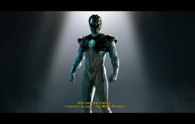 Introduction of the White Ranger! by CarlosDattoliArt