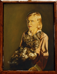 Linda with Her Furry Friend by hank1