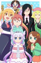 Dragon Maid Group Shot by TheCrayonQueen