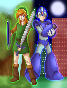 Past and Future Heroes -COMMISSION- by General-Link