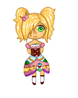 Pixel Easter girl by Tyusidwi