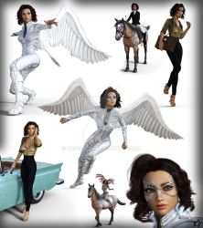 Evelyn Rose / Silver Kite Collage by argel1200