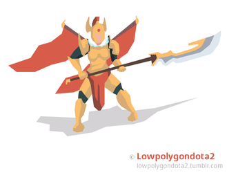 Legion commander from dota2 (animated) by AHTiXPiCT