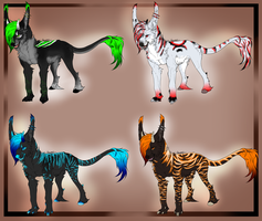 Canine creature adopts/Open by BlackLightning95