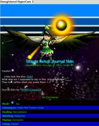 Free Utsujo Reiuji Journal Skin by Copper-LightSource