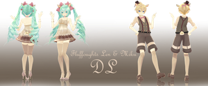 800 Watchers Gift : Fluffoughts Len and Miku DL by Crystallyna
