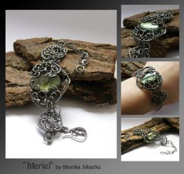 Meriel- wire wrapped bracelet by mea00