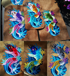 Japanese koi fish ~ embroidered phone cases WIP by CyanFox3
