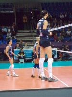 Supertall volleyball player by lowerrider