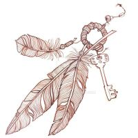 Feather amulet by Anvonavi