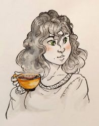 Inktober 2018 Day Three: Roasted by Risika93