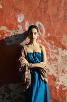 Lady in Blue dress by IlonaShevchishina