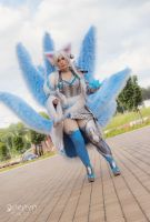 Ice Ahri in full set by Daraya by Daraya-crafts