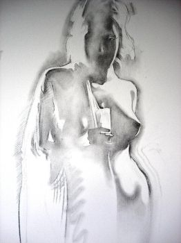 Nocturne (charcoal on canvas) by AdrianMoraru