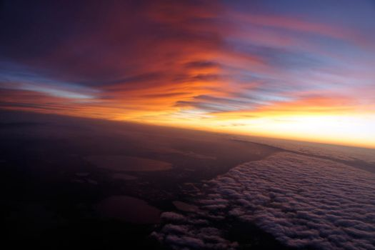 Flying Sunset III by LDFranklin