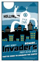 Giant Robot Invaders by taggraphics