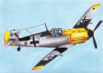 Messerschmitt Bf 109 E-4 by R7artist