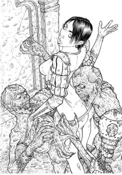 Flesh Eaters (lineart) by Area283