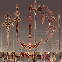 (CLOSED) - Weapon Adoptable #006 - Blooming Ember by Timothy-Henri