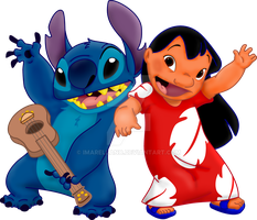 Lilo y Stitch color by IMArellano