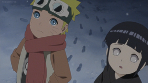 Naruto and Hinata Snowing 4 by weissdrum