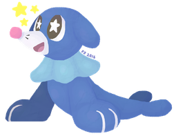 Precious Popplio by fluffscarf