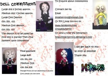 Doll Commissions Open by Little-Horrorz