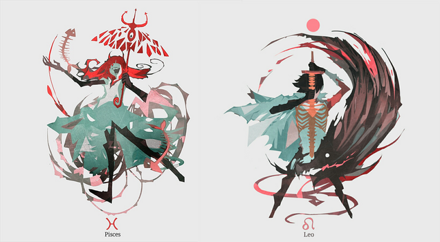Horrorscope :Pisces/Leo by NanoMortis