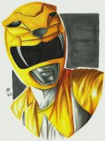 Mighty Morphin' Power Rangers - Yellow Ranger by ovictorrodrigues