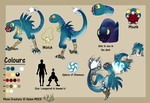 :Moon Creature Reference Sheet 2018: [QUICK] by Helen-M123