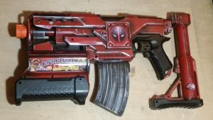 Nerf Deadpool blaster Hasbro SHOULD'VE made!  by MarquisDeZod