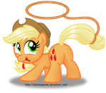 Applejack button design by AleximusPrime