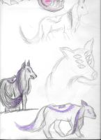 Wolf doodles by BlueAmerican164