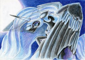 The Mare on the Moon by DragonaDeMetal