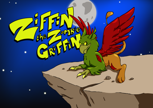 Ziffin the Zombie Griffin - Final by cuba12