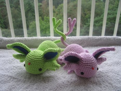 Toy #32 and #33:  Espeon by Poolvos