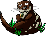Otter Caught Eating a Burrito by FerretJAcK