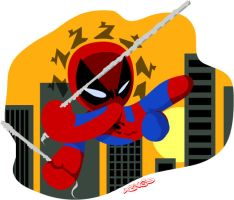 Spiderman Swinging PPG style by 231705