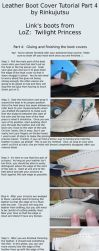 Leather boot cover tutorial part 4 - TP Link boots by Rinkujutsu