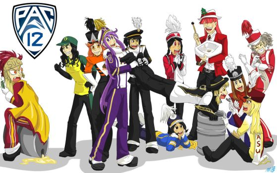 PAC 12 Bands 2011 by bluecrysto