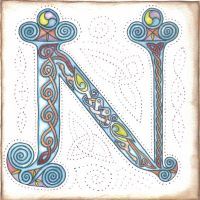 Illuminated Letter N by robertsloan2