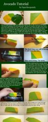 Avocado Cane/Skinner Blend Polymer Clay Tutorial by paperfaceparade