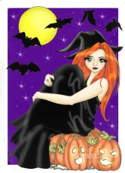 The Witch of the Pumpkin Patch by rose-saignant