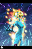 Power Suit Samus by Pdubbsquared