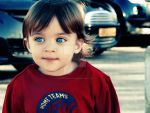 Little Blue Eyed Babe Magnet by arabianpharoe
