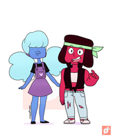 Steven Summer of Fashion - Ruby and Sapphire by Creativegreenbeans