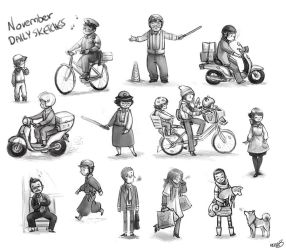 November 2013 daily sketches by esserawks