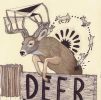 D is for Deer - coloured by emimf