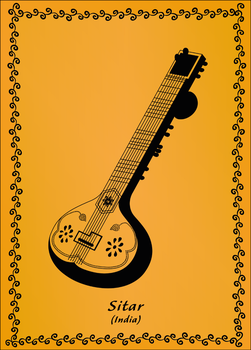 Indian sitar by Squid-pro-Quo